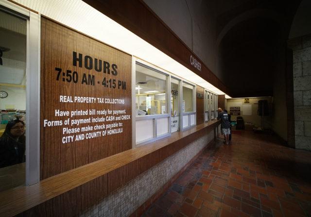 Honolulu City Hall Honolulu Hale Real Property Tax Collection window. 8 aug 2018