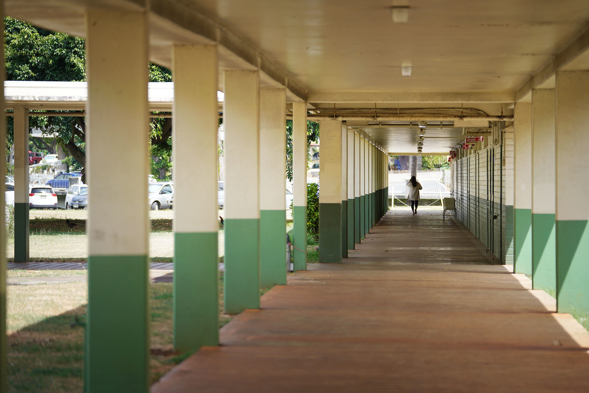 Kaimuki High School hallway.