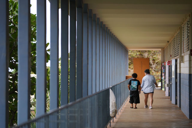 Makaha Elementary School hallway. 9 aug 2018
