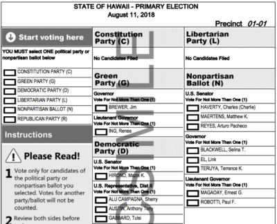 How To Really Fix Hawaii's Elections