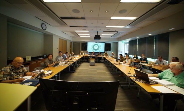 University of Hawaii Regents Meeting at Manoa.