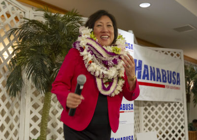 Hanabusa Takes First Steps In Run For Honolulu Mayor