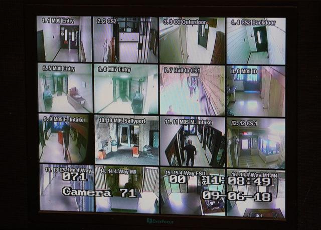 OCCC Oahu Community Correctional Center security camera screen.