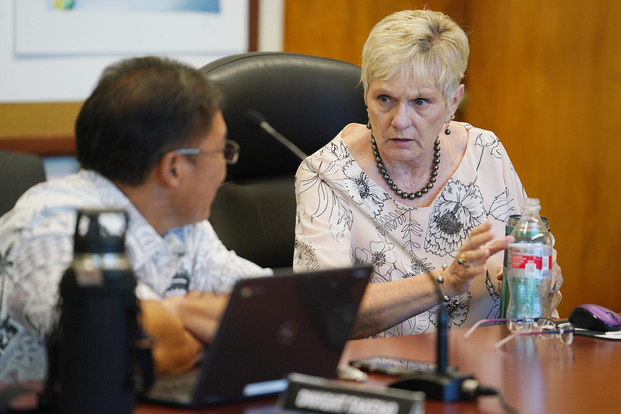Dept of Education board member Margaret Cox.