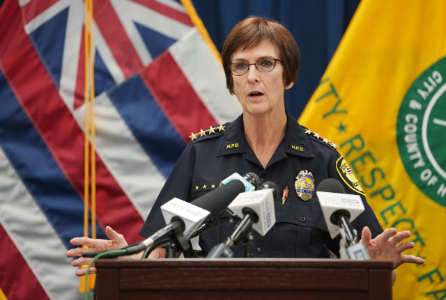 Honolulu Police Dept Chief Susan Ballard discusses shooting today that happened at Foodland.