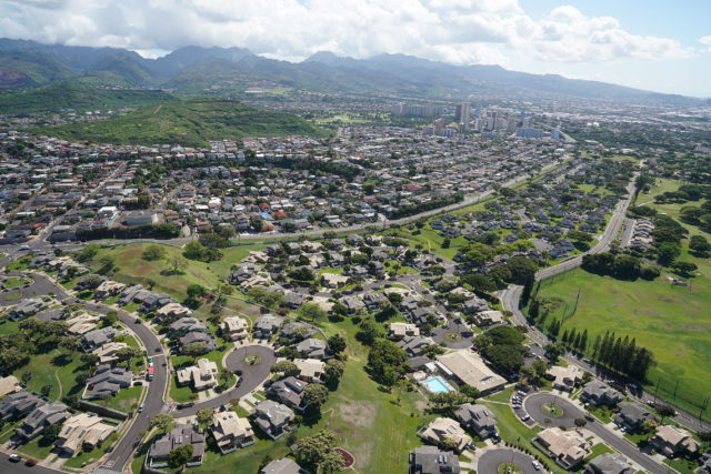 Navy Marine Golf Course Military housing Aerial Salt Lake Aliamanu aerial3.