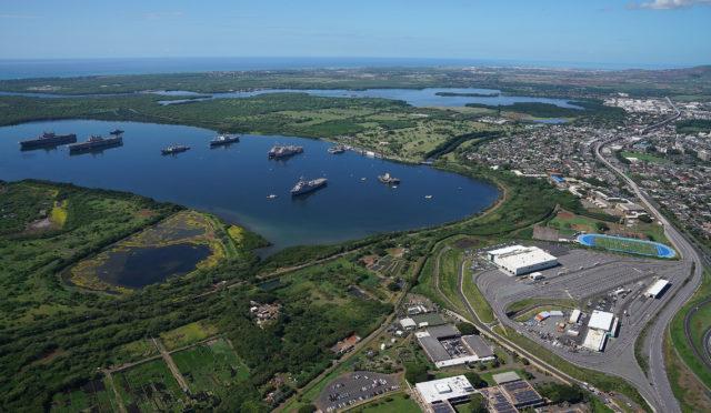 Pearl Harbor National Wildlife Refuge aerial West Loch Waipahu HART Rail Operations aerial1.