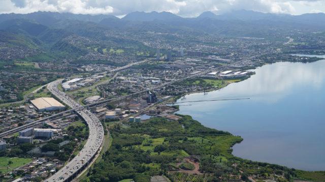 Pearl Kai Pearl Harbor Pearl City industrial aerial HART Rail Kamemeha Hwy Blaisdell Park2.
