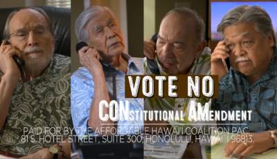 Ad Watch: Four Hawaii Govs Team Up To Defeat ConAm