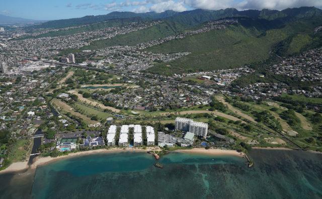 Kahala Hotel Waialae Country Club aerial.