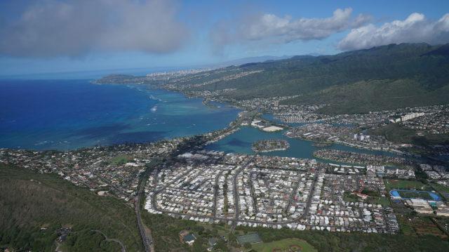 East Oahu Honolulu Hawaii Kai aerial.