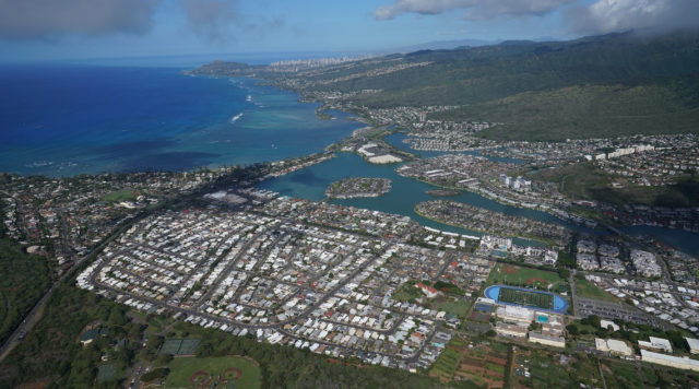 Hawaii Kai housing real estate East Honolulu Maunalua Bay aerial1