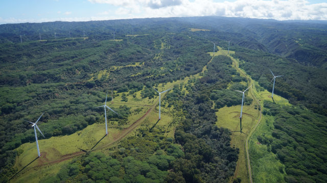 North Shore Oahu Windmills Alternative Energy windmill aerial.