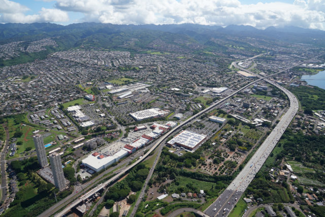 Pearl City H1 Freeway Honolulu City Aerial1.