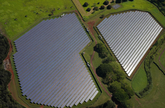 Solar Farm Mililani Central Oahu Alternative Energy aerial.