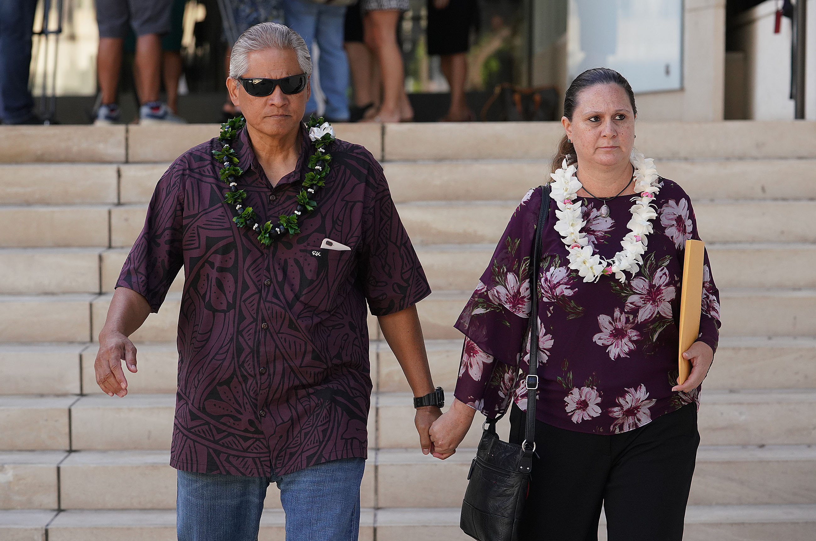 <p><strong>FEDERAL INVESTIGATION WIDENS:</strong> Former Honolulu Police Chief and his wife, former deputy prosecutor Katherine Kealoha, leave District Court after a hearing in October regarding the federal corruption charges against them. In December, Honolulu's chief prosecuting attorney, Keith Kaneshiro, was reportedly informed he was also a target in the widening probe.</p>