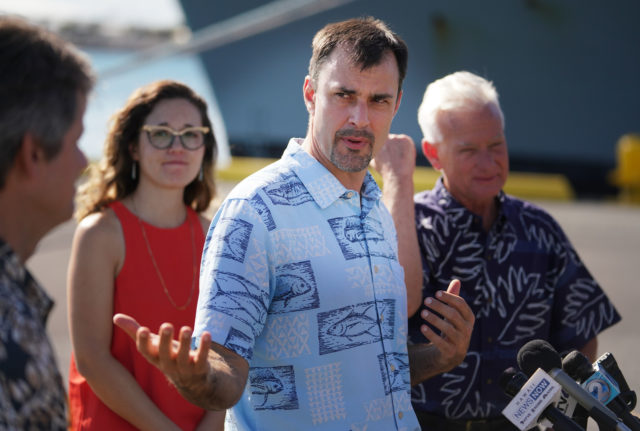 From Mayors release. Right, Chief Resilience Officer Josh Stanbro, Honolulu Climate Change Commission Vice Chair Dr. Chip Fletcher, who is one of the authors of the Hawaiʻi and U.S.-Affiliated Pacific Islands chapter of the report, and Honolulu Climate Change Commission Member Dr. Victoria Keener, who serves as the NCA Chapter Lead. The Assessment, released last Friday by 13 federal agencies including NOAA, details a multitude of current and future impacts of climate change in Hawaiʻi and the broader U.S