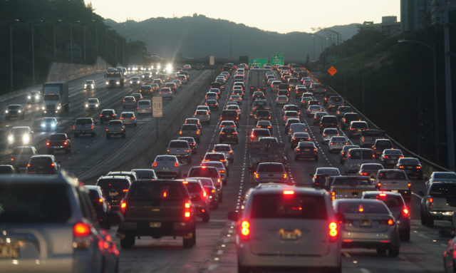 Approaching Aiea Eastbound early morning commute traffic1.