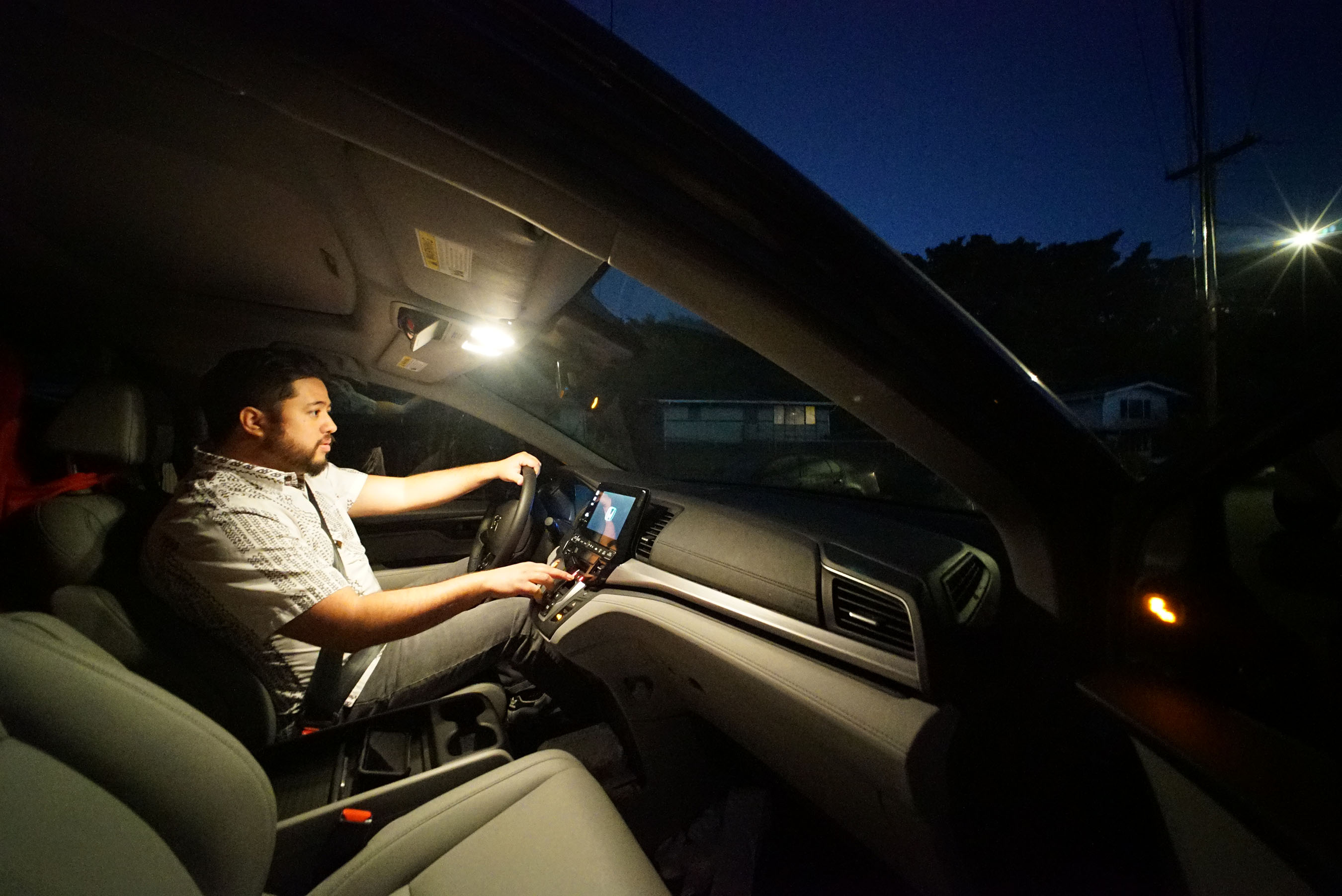 Zuri Aki leaves his multigenerational home on his way on a long commute from Mililani to town
