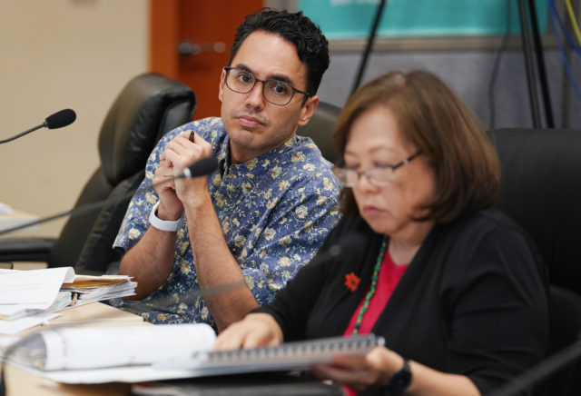 HART Board member Kamani Kuala'au at board meeting.