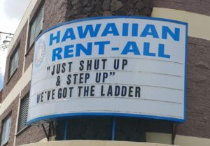 Being Funny Is Also Good Business For This Honolulu Rental Store