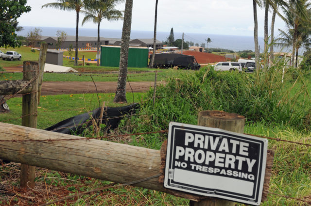 Construction under way at Zuckerberg property in the Pilaa district near Kilauea.