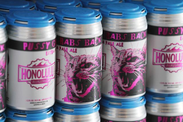 Honolulu Beerworks Pussy Grabs Back IPA beer.