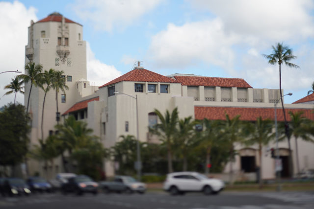 Honolulu Hale with Tilt Shift lens. 2019