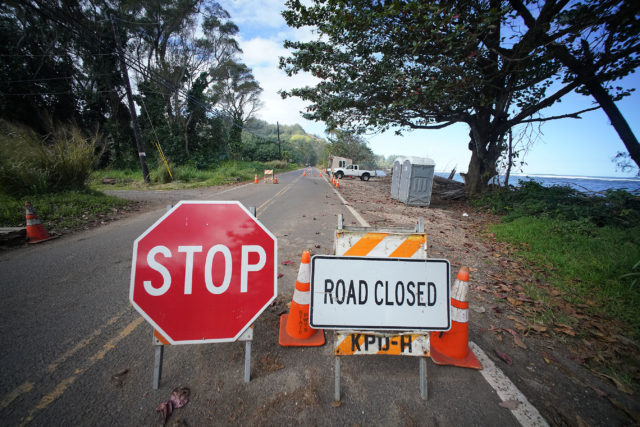 Kauai Flood Kuhio Highway checkpoint.