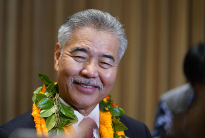 Governor David Ige press conference post State of State address.