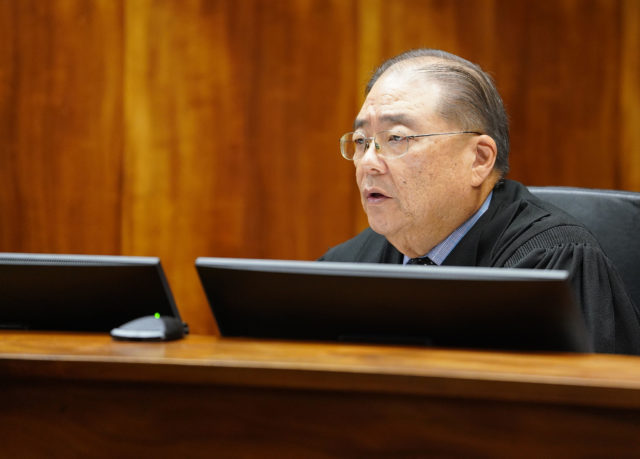 Judge Gary Chang makes his decision in the gut and replace.