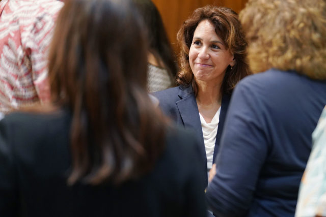 DOE Superintendent Christina Kishimoto after early learning signing at the Gov's office.