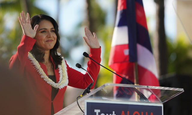 Congresswoman Tulsi Gabbard announces her run for president at the Hilton Hawaiian Village.