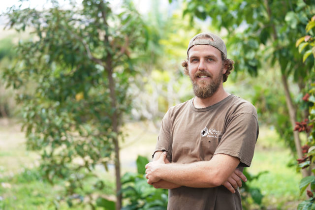 Kahumana Organic Farm Cafe Farm Manager Christian Zuckerman.