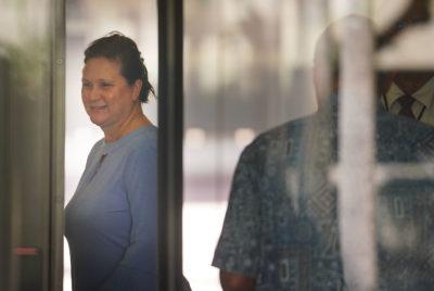 Former deputy city prosecutor Katherine Kealoha closeup.