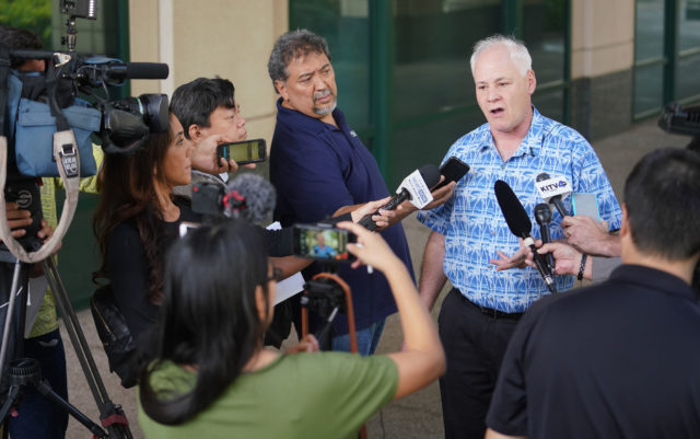 vHART Executive Director Andrew Robbins press conference at Alii Place.