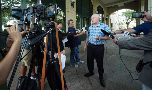 HART Executive Director Andrew Robbins press conference at Alii Place wide.