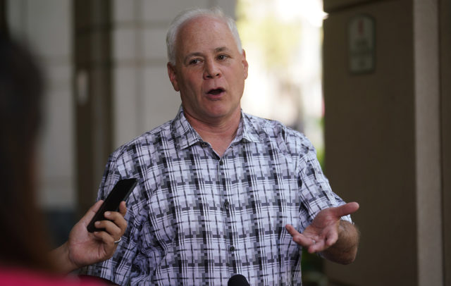 HART Executive Director Andrew Robbins during press conference at Alii Place 2nd subpoena.