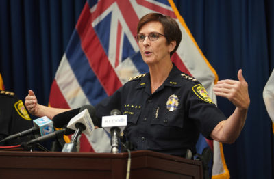 HPD Chief Susan Ballard presser on 2nd cop shooting fatality.