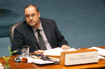 Sen Donovan Dela Cruz during floor session.