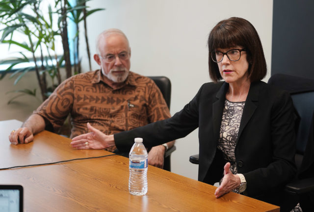Honolulu Police Commission Chair Loretta Sheehan and Steven Levinson editorial board.