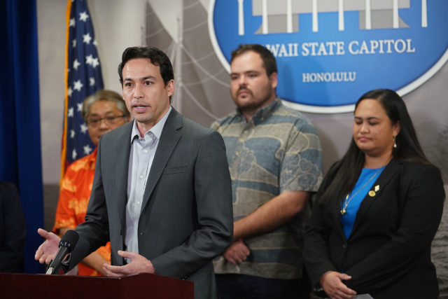 Rep Chris Lee at the post crossover House Presser.