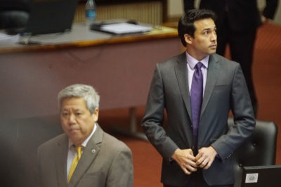 Rep Chris Lee during Pot Bill discussions during floor session.