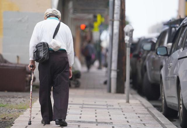 Elderly Old People in Chinatown, Honolulu. Senior Citizen.