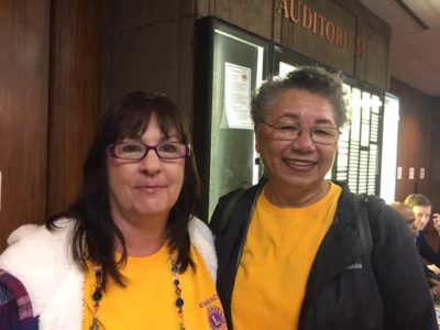 Ewa Beach Lions club members Eileen Lynn, left, and Eleanor Rolark, are hoping to get a state grant