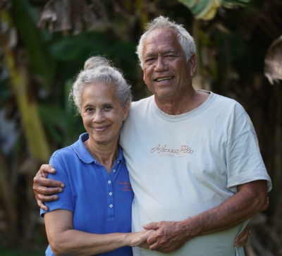 Mahealani and Ed Wendt Wailua Maui water.