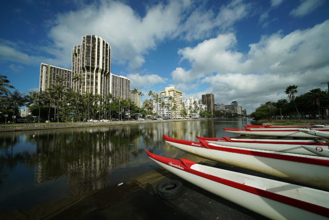 Kapahulu Avenue beginning of Ala Wai Canal.