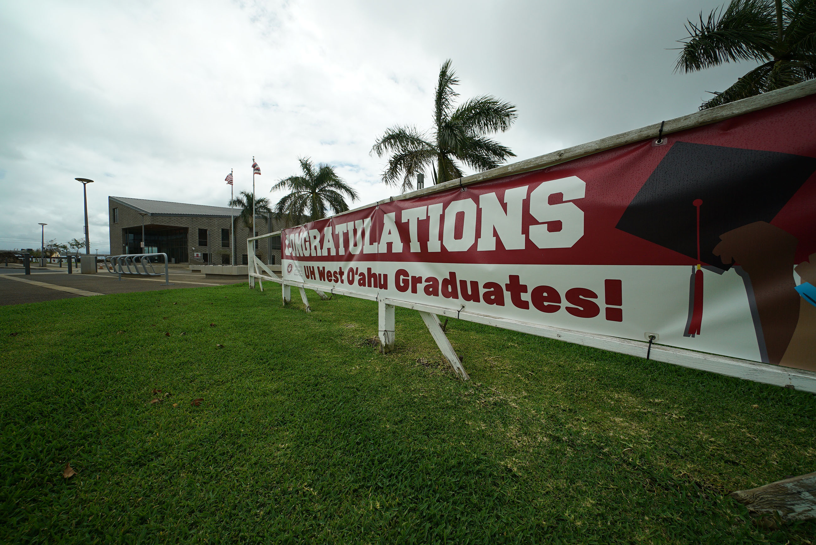University of Hawaii West Oahu campus graduation sign.