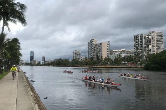 Ala Wai Canal Canoe Paddlers.