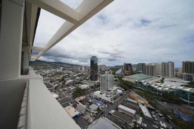 Hawaii Convention Center and Century Center Tower. Kalakaua Avenue/Kapiolani Blvd.